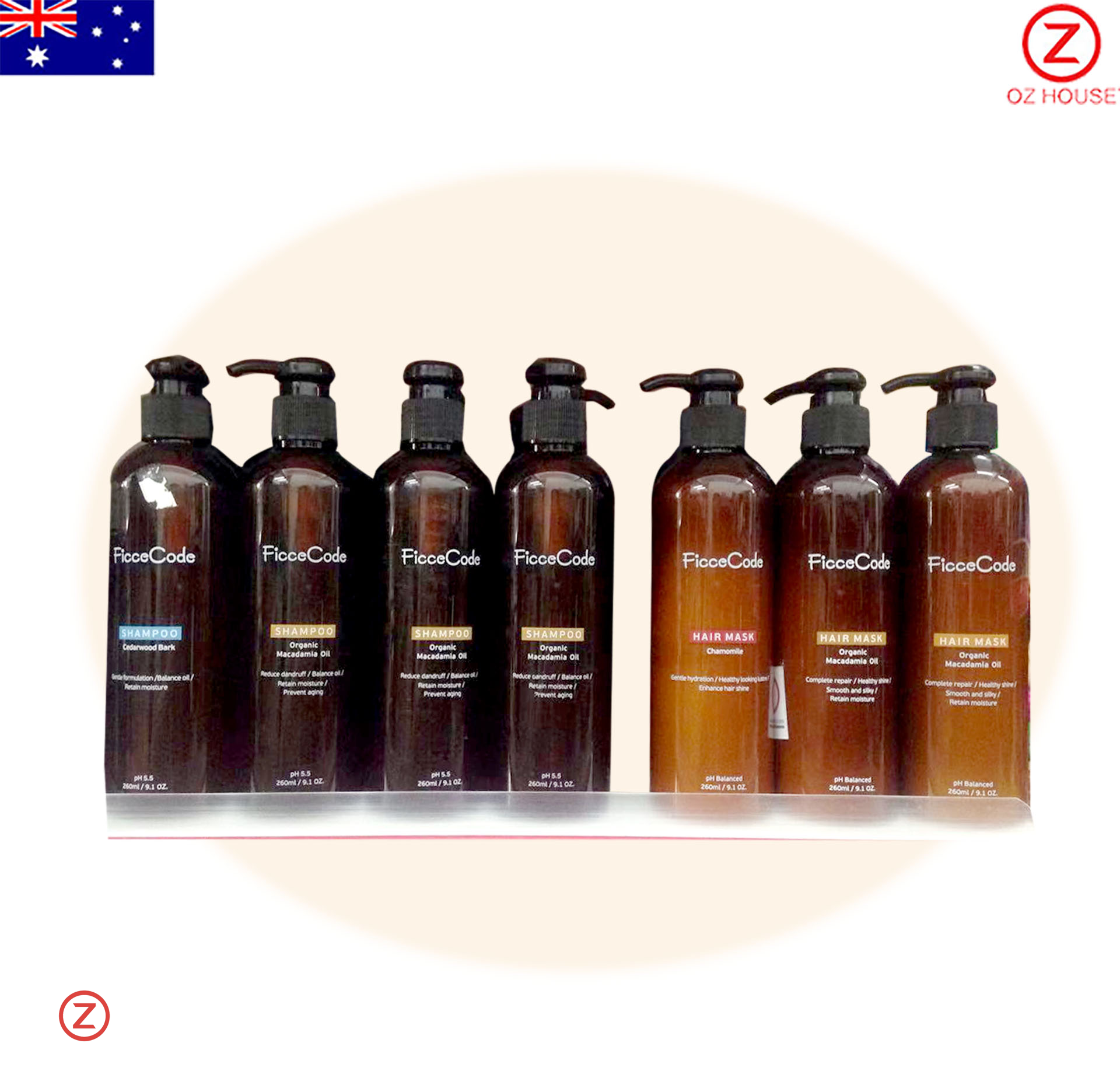 FicceCode Shampoo and Hair Mask