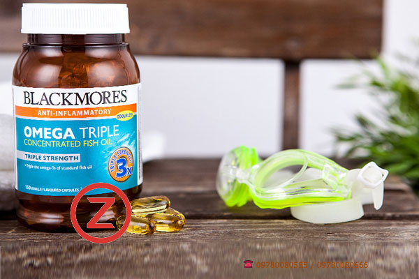 Blackmores Omega Triple Concentrated Fish Oil (Odourless)