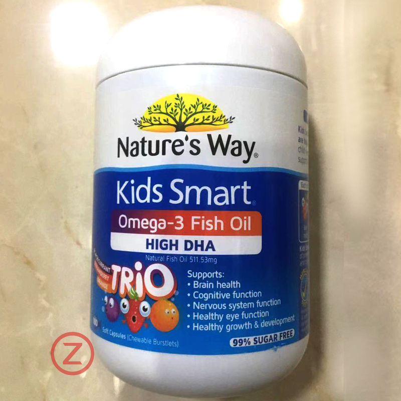 Nature's Way Kids Omega 3  Fish Oil High DHA Trio